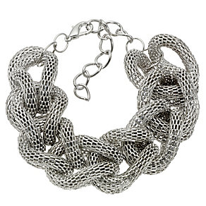 Silver Twisted Mesh Bracelet - Product number 8747881