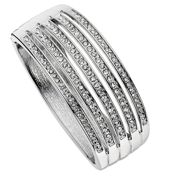 Silver Crystal Chunky Bangle - Product number 8747989