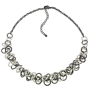 Gunmetal Looped Interlocking Necklace