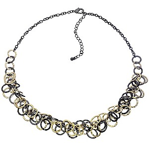 Black And Gold Multi Tone Looped Necklace