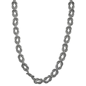 Silver Mesh Interlocking Chain