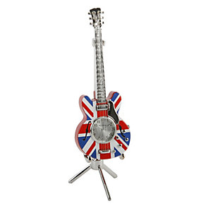 Miniature Union Jack Guitar Clock - Product number 8748497