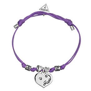 Guess Heart Charm Purple Adjustable Bracelet - Product number 8748616