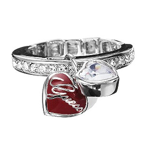 Guess Double Heart Stretch Ring