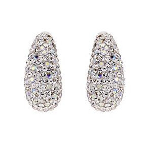 Silver & white crystal earrings - Product number 8779147