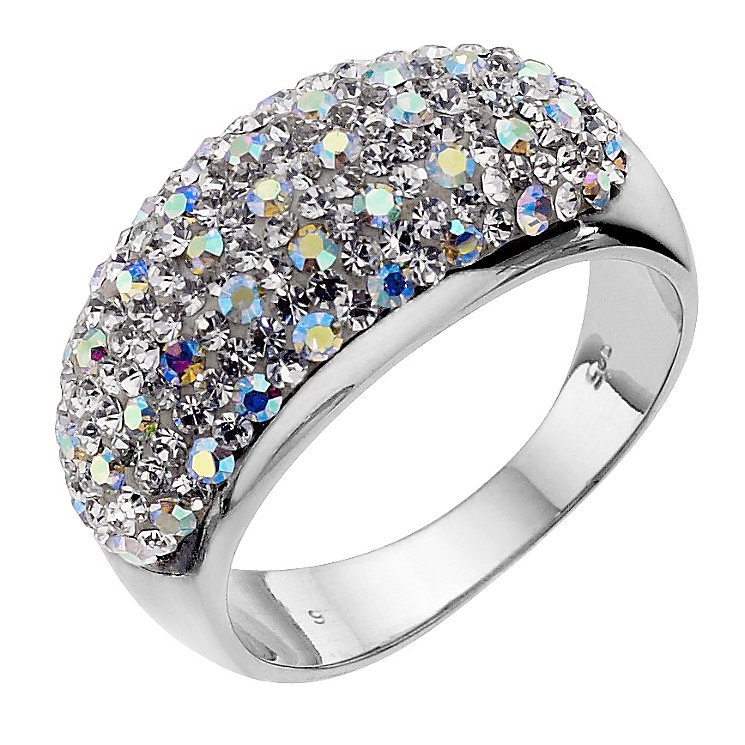 Silver & white crystal ring - Product number 8779228