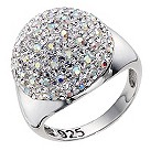 Silver white crystal ball ring - Product number 8779414