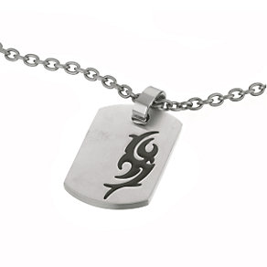 Titanium Tribal Dog Tag - Product number 8780684