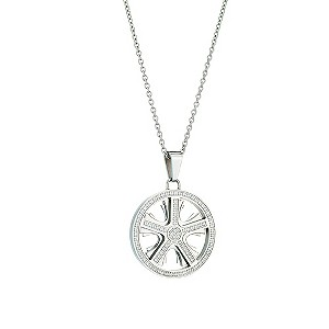 Stainless Steel Cubic Zirconia Wheel Pendant - Product number 8781044
