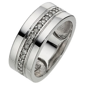 Silver Diamond Channel Set Ring