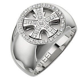 Stainless Steel Cubic Zirconia Wheel Ring - Product number 8784019