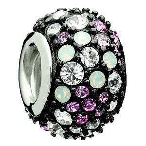 Chamilia - Kaleidoscope pink and black Swarovski silver bead - Product number 8785643