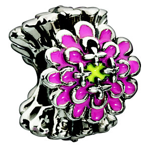 Chamilia - Blooming Zinnia Pink sterling silver bead - Product number 8785678