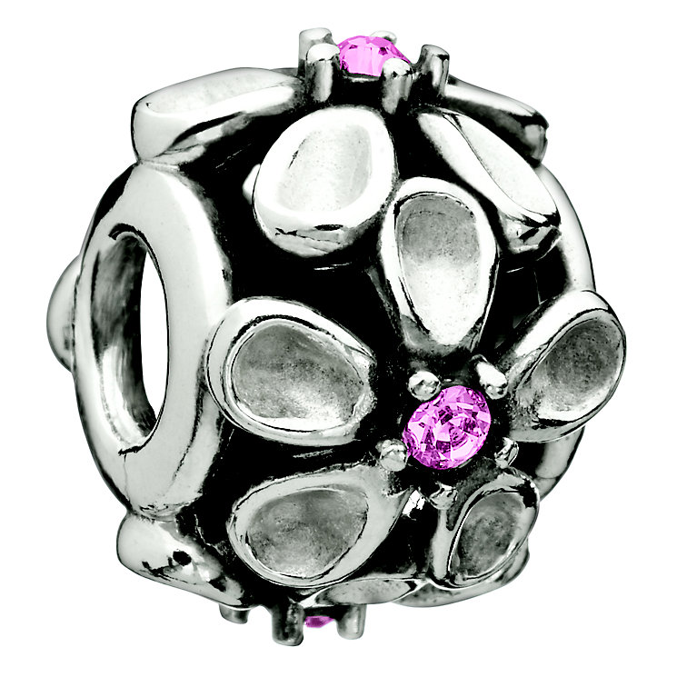 Chamilia -Dazzling Daisy pink sterling silver bead - Product number 8785686