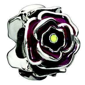 Chamilia - Simply Rosy Burgundy sterling silver bead - Product number 8785708