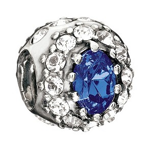 Chamilia Sterling Silver Blue Stone Engagement Bead - Product number 8786798