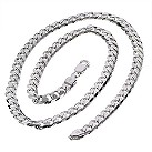 Sterling silver men's curb link necklace - Product number 8787476