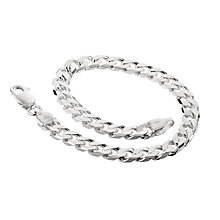 Sterling silver men's curb link bracelet - Product number 8787484