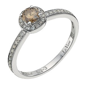 LeVian 14CT Gold Forty Point White & Chocolate Diamond Ring - Product number 8788812