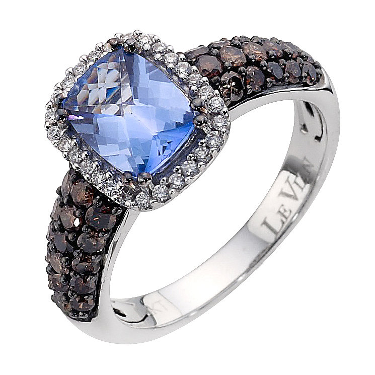 Le Vian 14CT Gold Seventy Point Diamond & Blue Topaz Ring - Product number 8789347