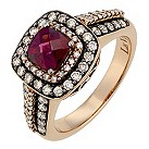 LeVian 14CT Strawberry Gold 0.75CT Diamond & Rhodalite Ring - Product number 8789754