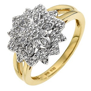 Sattva 18ct Yellow Gold 0.33 Carat Diamond Ring