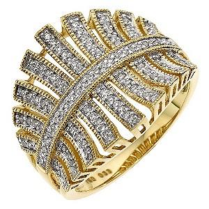 Sattva 22ct Yellow Gold 0.33 Carat Diamond Ring