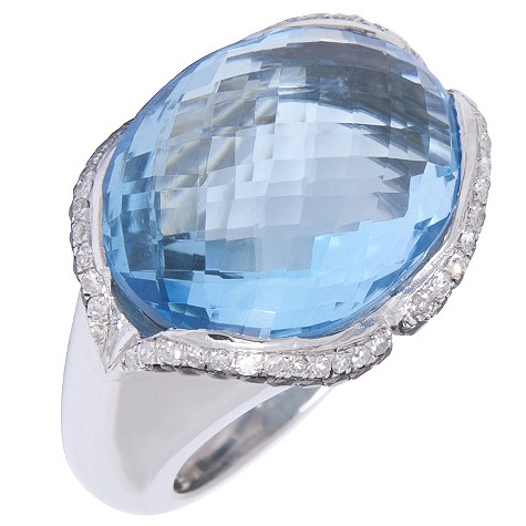 Amanda Wakeley silver blue topaz