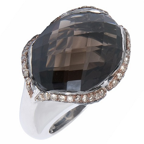 Amanda Wakeley silver smoky quartz