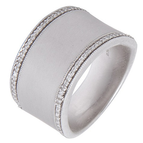 Amanda Wakeley silver diamond edge ring
