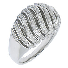 Silver Diamond Swirl Ring - Product number 8800839
