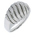 Amanda Wakeley silver diamond swirl ring - Product number 8800839