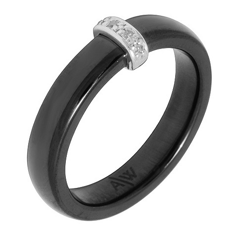 Amanda Wakeley diamond ceramic bar ring