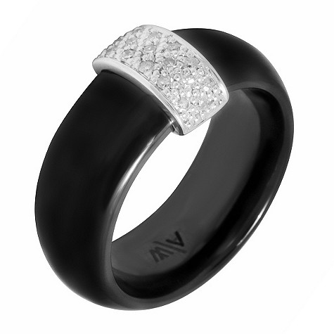 Amanda Wakeley diamond ceramic bar ring