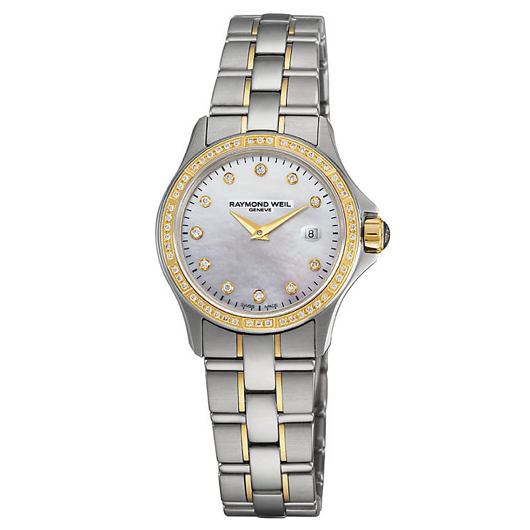 Raymond Weil Parsifal ladies' two colour bracelet watch - Product number 8807833