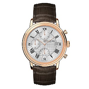 Raymond Weil men's black leather strap watch. - Product number 8808120