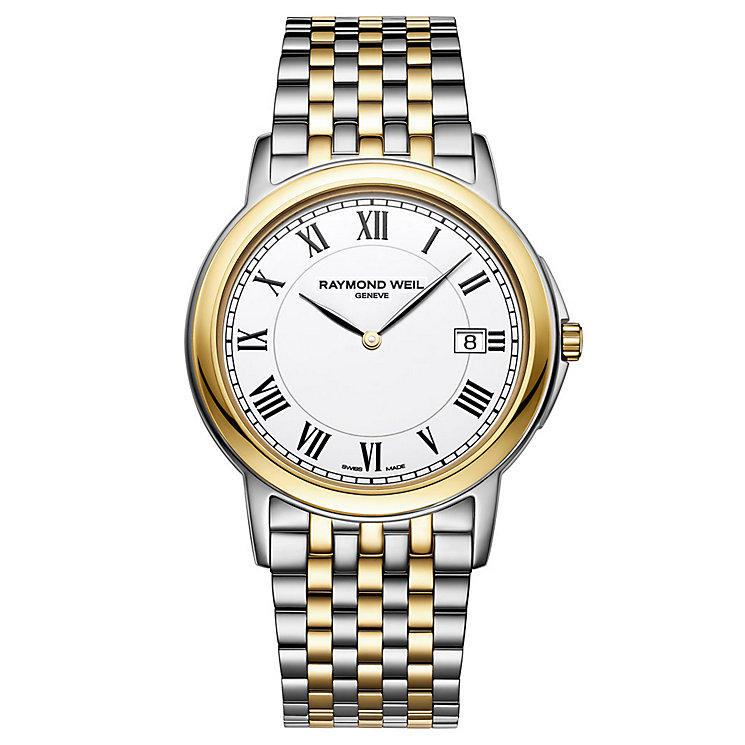 Raymond Weil men's two colour bracelet watch - Product number 8808287