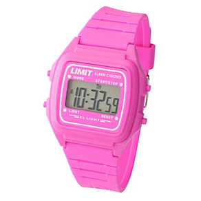 Limit Ladies' Digital Pink Strap Watch. - Product number 8809704