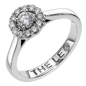 Leo platinum halo cluster 1/2 carat I-SI2  diamond ring - Product number 8812446