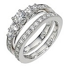 Leo platinum 1 and 1/4 carat diamond bridal ring set - Product number 8812705