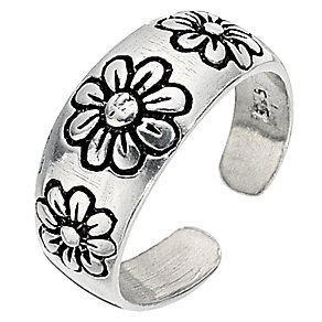 Sterling Silver Engraved Toe Ring - Product number 8813418