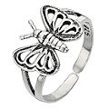 Sterling Silver Butterfly Toe Ring - Product number 8813426