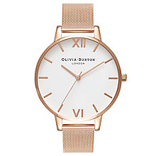 Olivia Burton Big Dial Ladies' Rose Gold Plated Mesh Watch - Product number 8817049