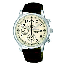 Seiko Conceptual Men's Stainless Steel Leather Strap Watch - Product number 8819750