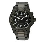 Seiko men's black bracelet watch - Product number 8819777