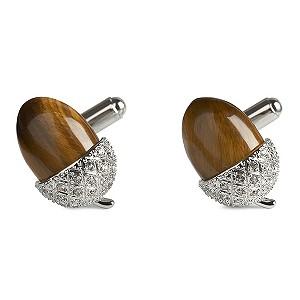 Simon Carter men's tigereye acorn cufflinks - Product number 8820376
