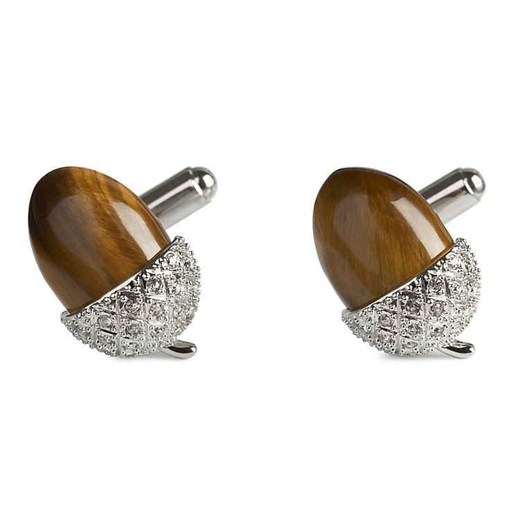 Simon Carter men's tigereye acorn cufflinks - Product number 8820376