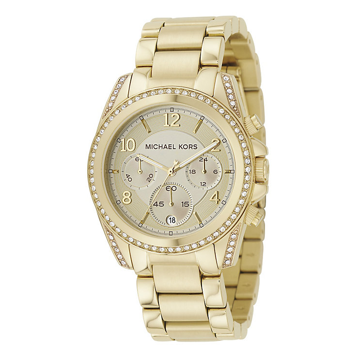 Michael Kors Ladies' Gold Tone Bracelet Watch - Product number 8821062