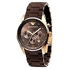 Emporio Armani men's chocolate bracelet watch - Product number 8821496