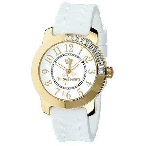Juicy Couture ladies' white jelly strap watch - Product number 8821631